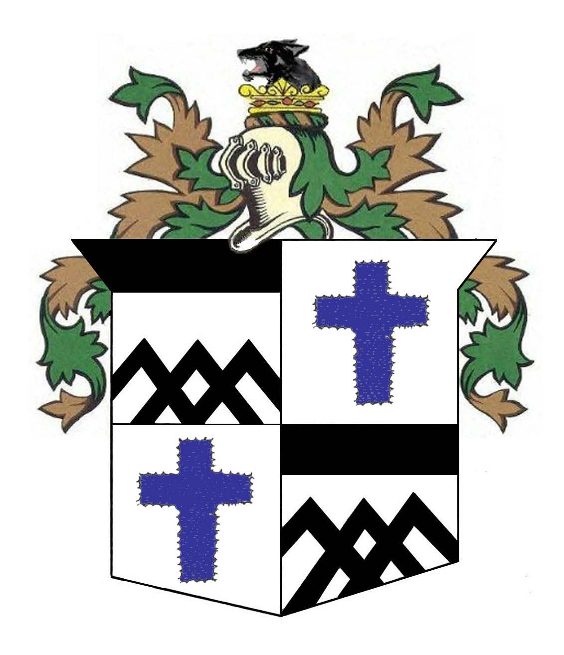 Coat of arms claybourn genealogical society coat of arms with engrailed cross biocorpaavc Choice Image